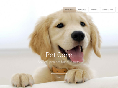 Pet Care homepage