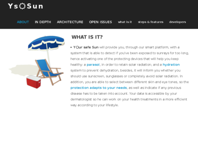 Your Safe Sun homepage